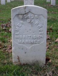 The Original Grave Marker for Private Elmer Robert Darrock