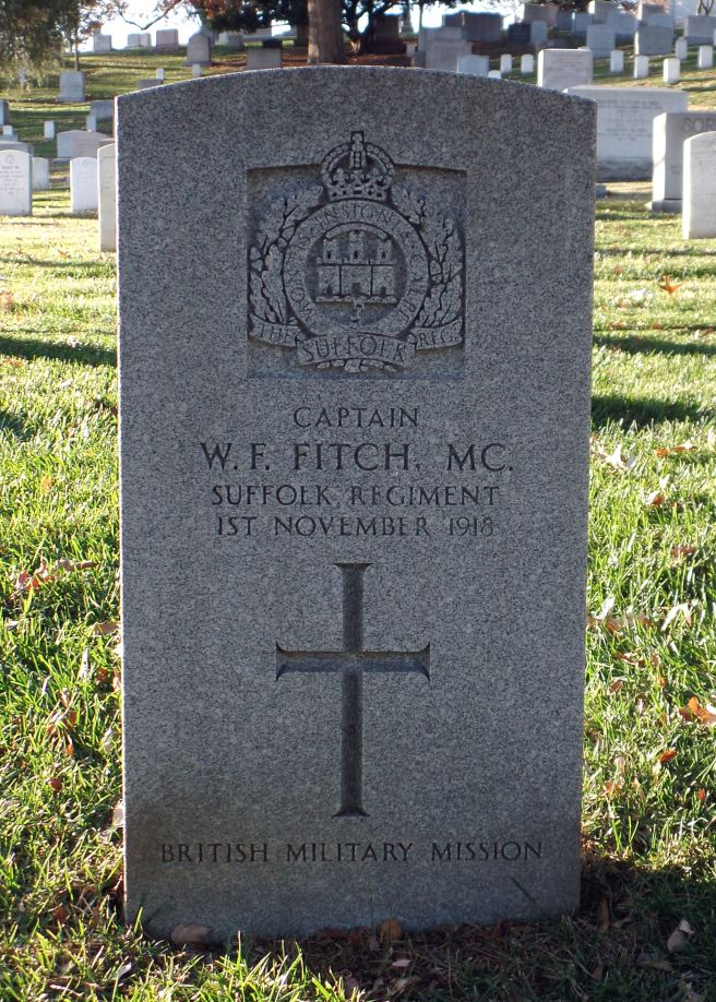 The grave of Captain Walter Frederick Fitch MC