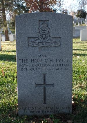The grave of Major the Hon. Charles Henry Lyell