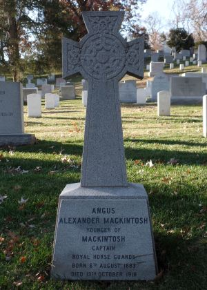 The grave of Captain Angus Alexander Mackintosh, younger of Mackintosh