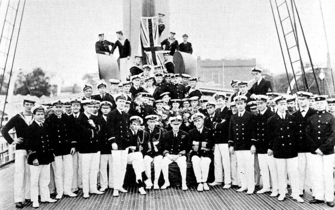 The crew of HMS Warrior, 30 May 1918