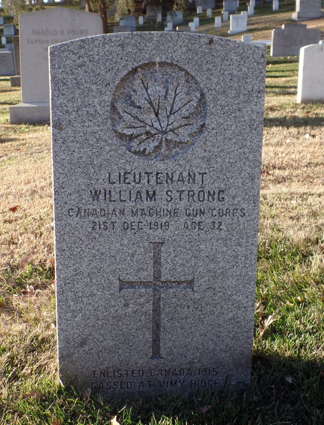 The grave of Lieutenant William Strong