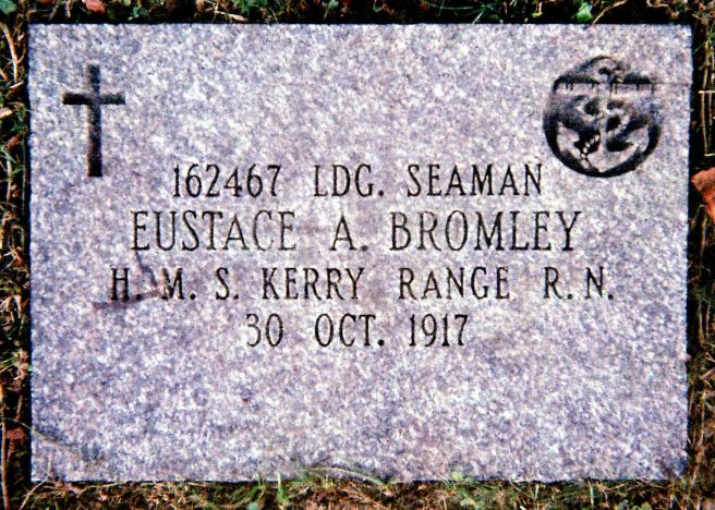 The grave marker for Eustace Alfred Bromley