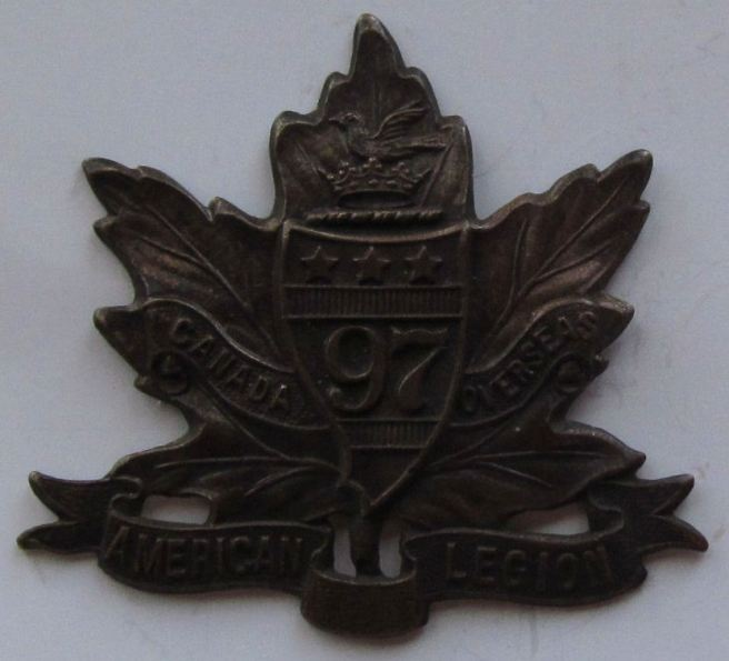 97th Battalion (American Legion) Cap Badge