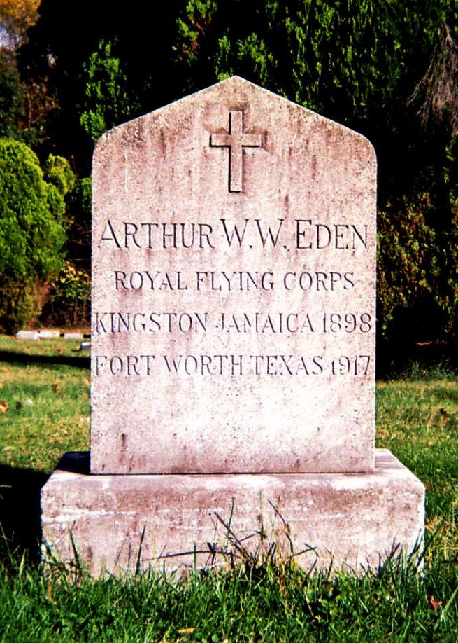 The grave of Cadet Arthur William Webster Eden