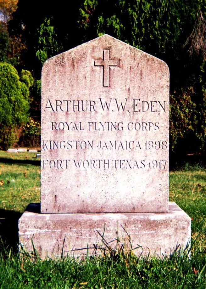 The grave of Cadet Arthur William Webster Eden