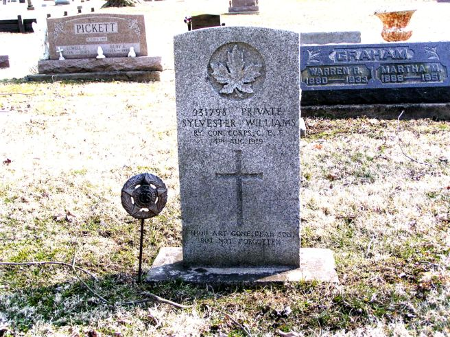 The grave of Private Sylvester Williams