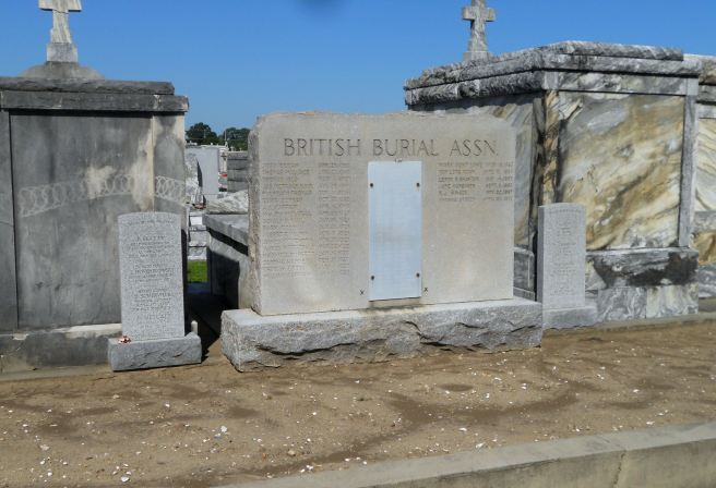 The British Burial Association Plot at Greenwood Cemetery, New Orleans