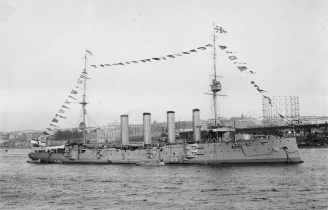 HMS Drake in 1909