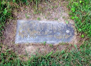 The grave marker for William Pattinson