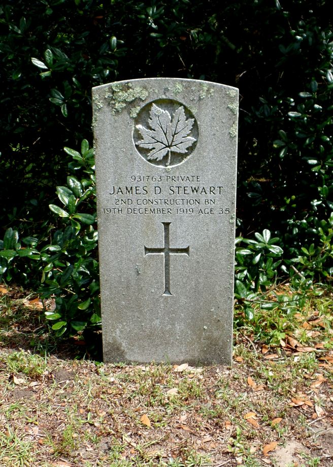 The grave of Private James Doval Stewart