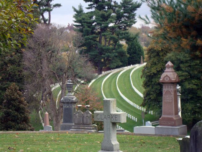 Cave Hill National Cemetery seen from the adjacent Cave Hill Cemetery