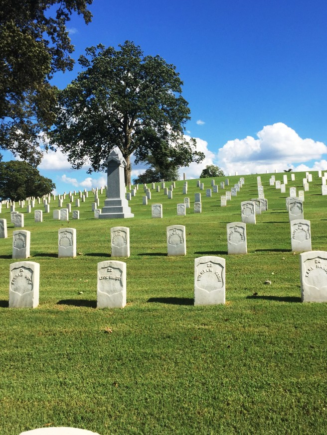 Chattanooga National Cemetery and the memorial to the German internees and prisoners of war buried there