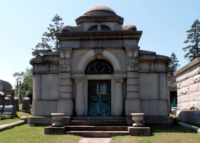 The Arnheim-Zorkowski Mausoleum in Beth Olam Cemetery