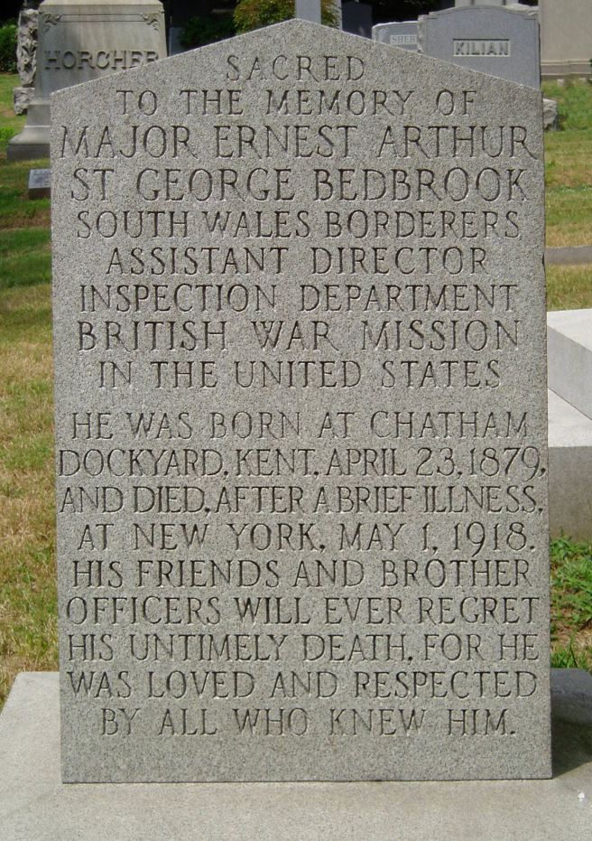 The Grave of Major Ernest Bedbrook