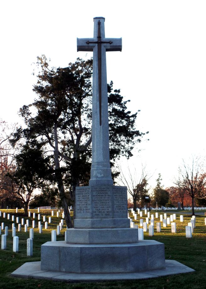 the canadian cross of sacrifice at arlington national cemetery
