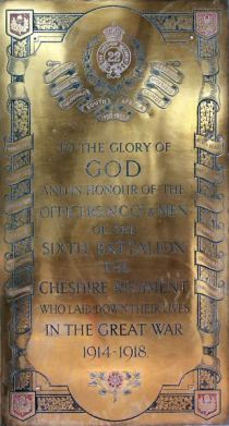 1/6th Battalion, The Cheshire Regiment Memorial
