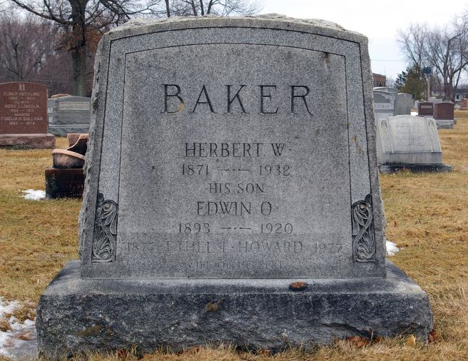 The grave of Edwin Otterson Baker