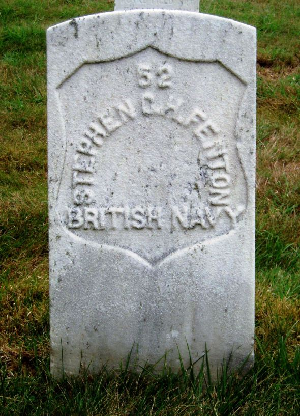 The grave of Leading Seaman William Stephen Charles Henry Fenton