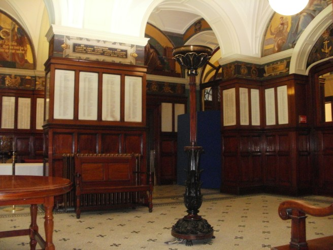 The Hall of Remembrance at Liverpool Town Hall