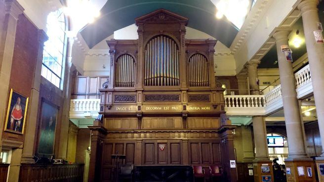 The memorial organ at Royal Grammar School, Newcastle