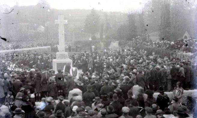 The dedication of Dawlish war memorial