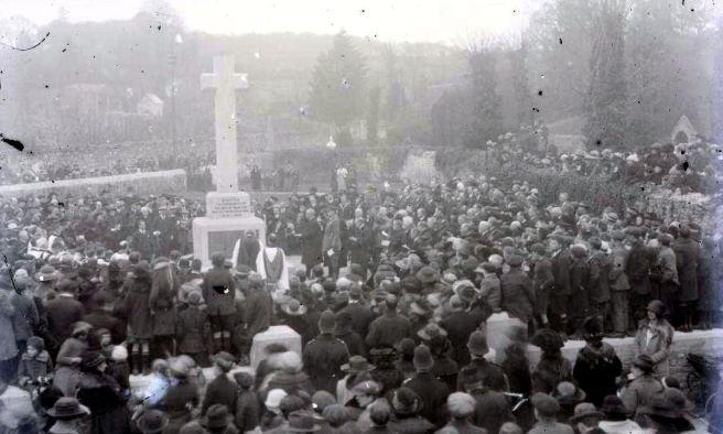 The dedication of Dawlish war memorial