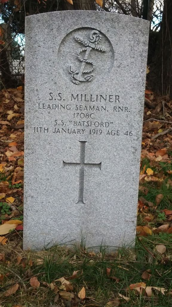 The grave of Leading Seaman Sydney Milliner
