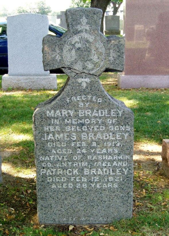 The grave of Private Patrick Bradley