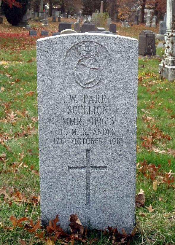 The grave of Scullion William Parr