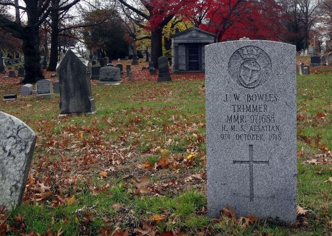 The grave of Trimmer Walter John Joseph Bowles