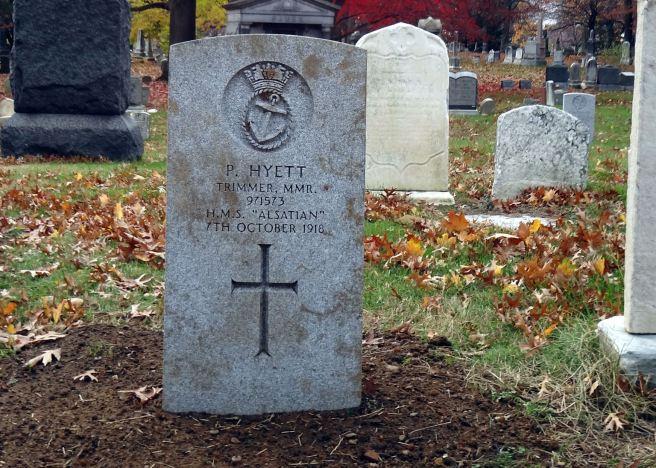 The grave of Trimmer Percy Samuel Tomas Hyett