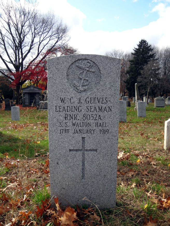 The grave of Leading Seaman William Charles John Geeves