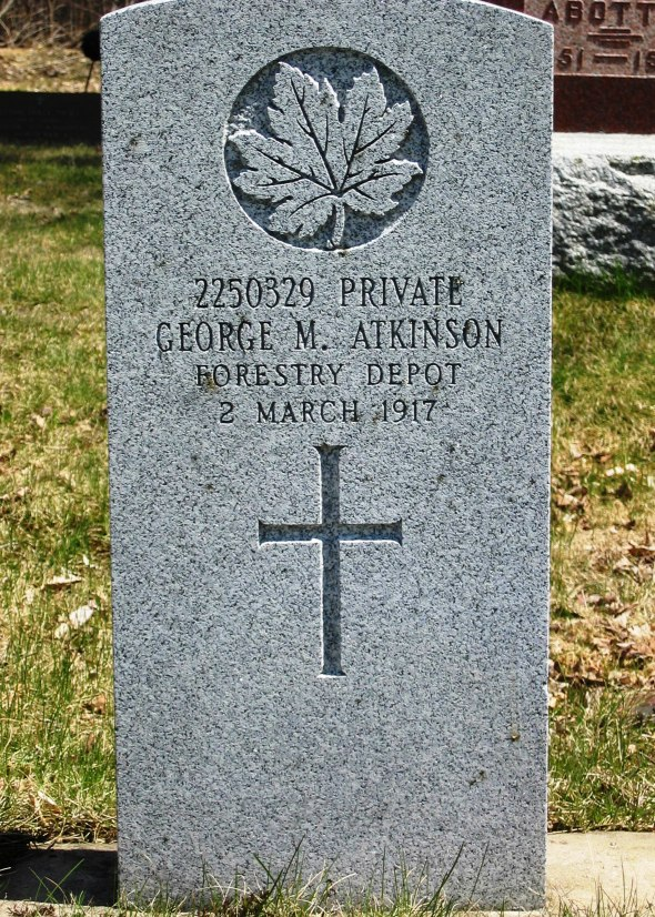 The grave of Private George Atkinson