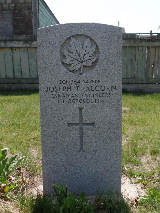 The grave of Sapper Joseph Thomas Alcorn