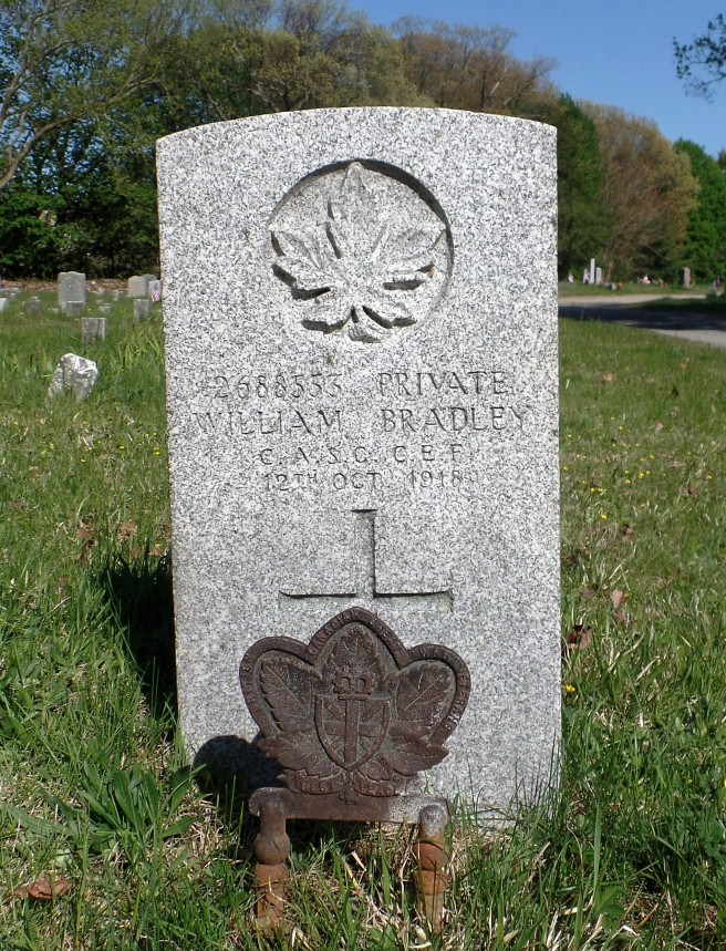 The grave of Private William Bradley