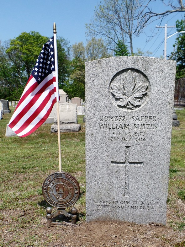 The grave of Sapper William Bustin