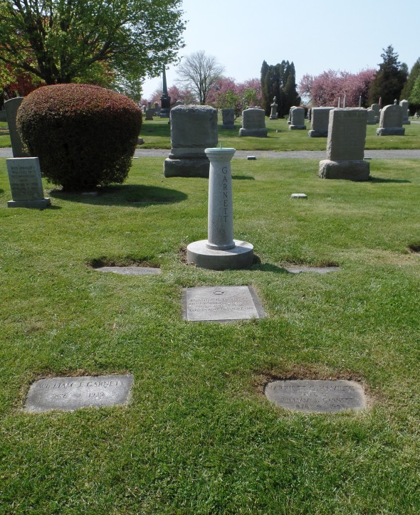 The Garnett family plot in Island Cemetery, Newport
