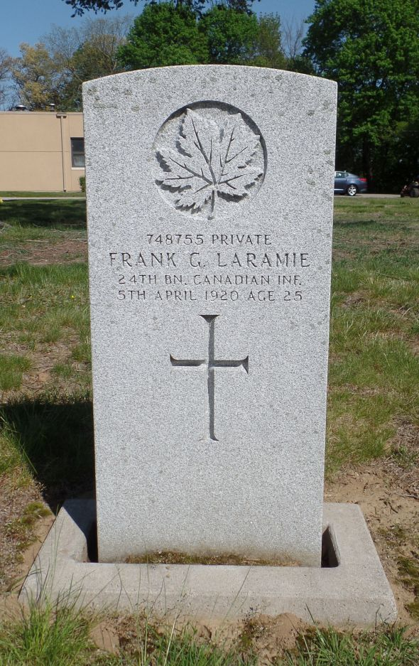 The grave of Private Frank Laramie