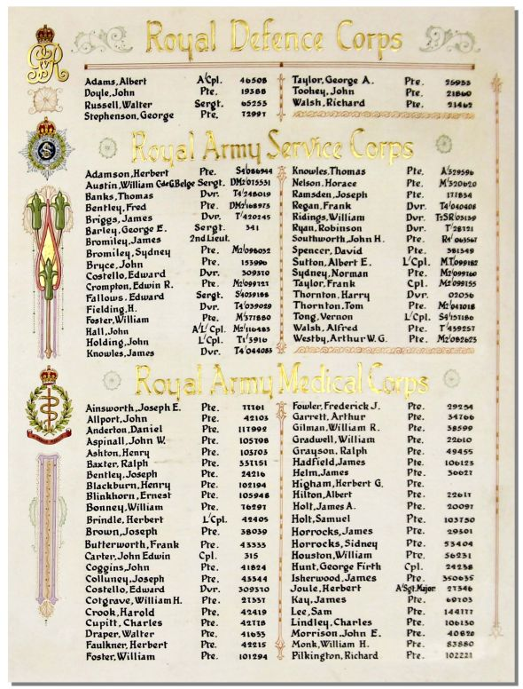 Bolton Roll of Honour, 1914-1918, Private William Foster