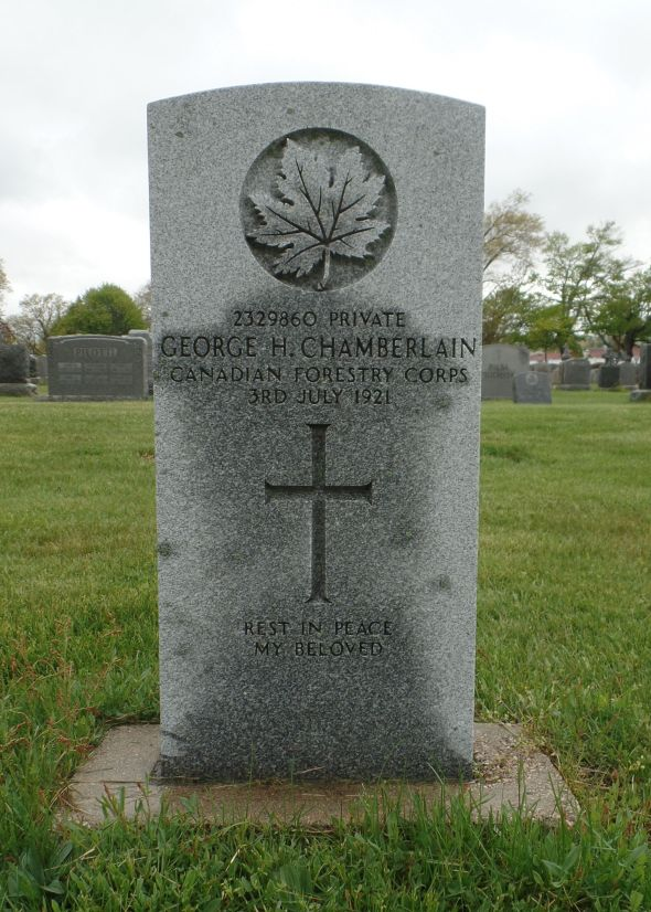 The grave of George Chamberlain