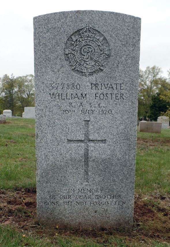 The grave of William Foster