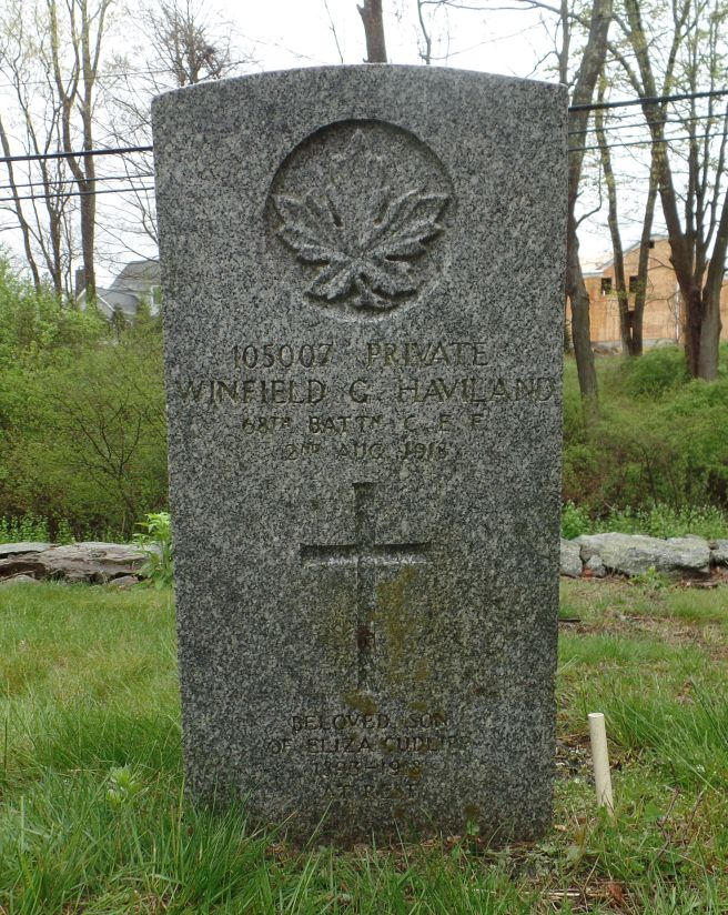 The grave of Winfield George Haviland