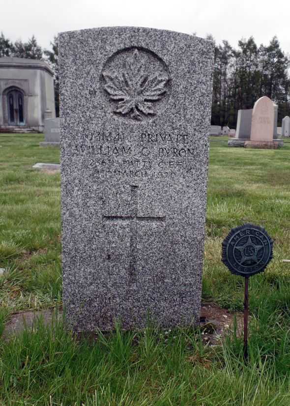 The grave of Private William Byron